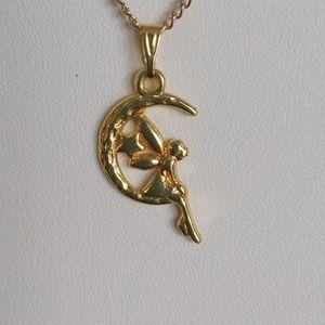 Little Angel/Half Moon Necklace